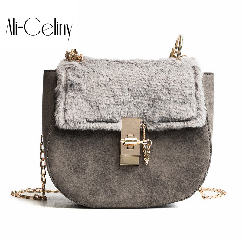 New Women Fashion Plush Flip Scrub Shoulder bags famous brand designer Chain drew bag Fashion Lock Messenger Crossbody Bag famous messenger bags for women fashion crossbody bags brand designer women shoulder bags bolosa