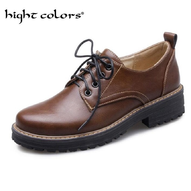 a70e2539b7c33 Ladies Casual Flat Oxford Shoes Comfortable Lace Up Round Toe Cow Split  Leather Oxfords For Women Female Casual Flats Size 34 43-in Women's Flats  from ...