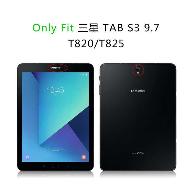 Para Tab S3 9,7 SM-T820 SM-T825 cubierta caso luz Flip Folio soporte de la cubierta del caso de Shell para Samsung Galaxy Tab S3 9,7'