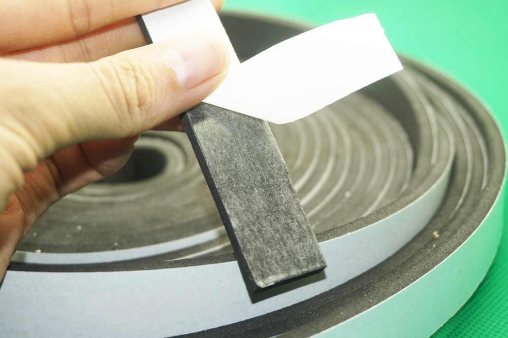 Черный Уплотнитель самоклеющаяся Резина дверное, оконное уплотнение прокладки EVA пены