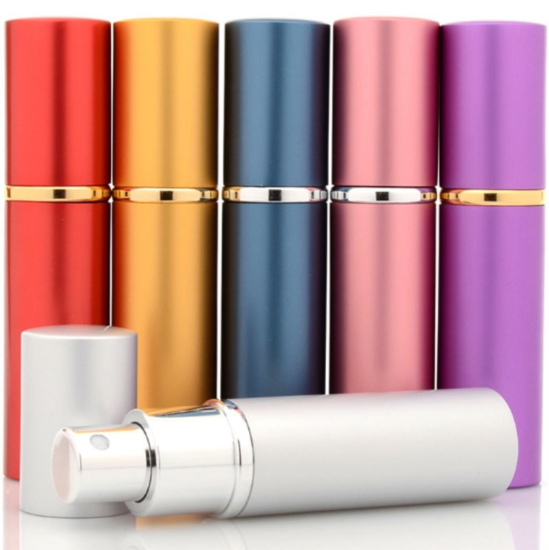 10ml Refillable Portable Mini perfume bottle Traveler Aluminum Spray Atomizer Empty Parfum Bottle as a Gift100pcs