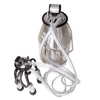 Terrific Durable 25L Cows Stainless Steel Portable Bucket Set for Milking Machine