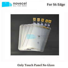 Novecel 10pcs/lot G925 TF panel only touch screen digitizer TP sticker with flex cable No front glass for s6 edge replacement