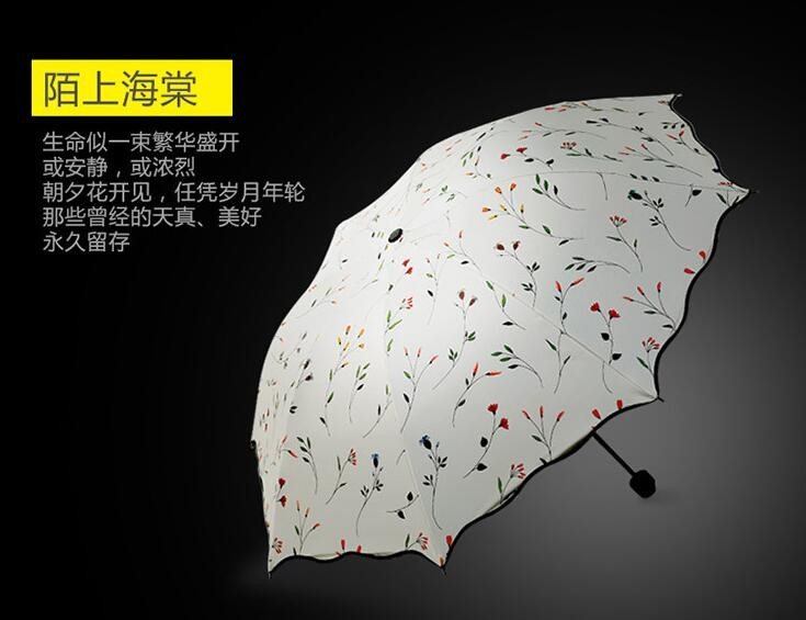 New Four Color Flower Creative Umbrella Uv Sun Umbrellas Super