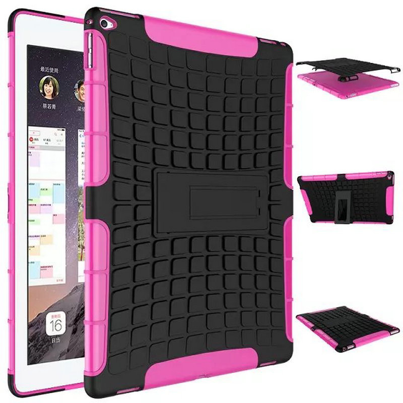2 in 1 Durable ShockProof Hybrid Heavy Duty Stand Case Cover For Apple iPad Mini 1 2 3 Fashion phone bag 8 Colors Hot sale