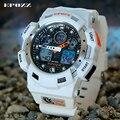 EPOZZ Hombres 100 M Blanco Impermeable A Prueba de Golpes Reloj Digital Correa de Silicona Hombres de Primeras Marcas de Lujo Del Reloj de 3001