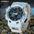 EPOZZ Men 100M White Waterproof Shockproof Wrist Watch Digital Silicone Strap Male Top Brand Luxury Clock 3001