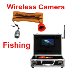 Wireless Video Fishing Camera System 1.2G video receiver underwater checking camera cctv 8pcs IR LED Wireless fish finder camera