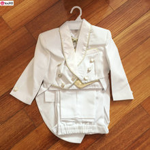 New Arrival Smart Gold Edge Boy's Wedding Party Suit/Boy's 5-piece Set Tuxedo/White Boy Suit 931A