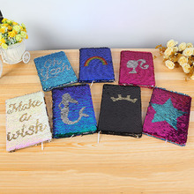 1pcs Creative Colorful Sequins Mermaid Pattern Girl Botebook Daily Memos Notepad Fashion Office School Stationery Supplies