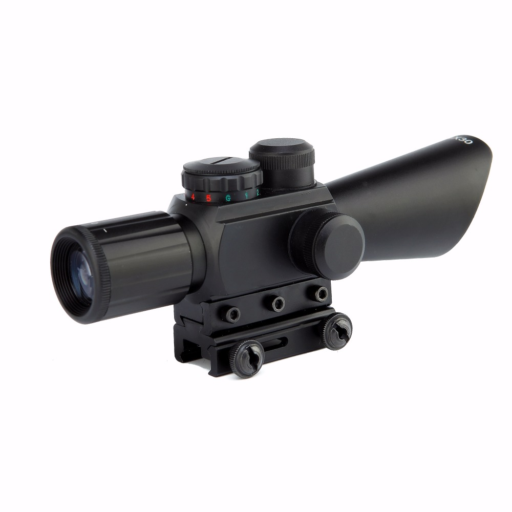 Spike M8 3 5 10x40 Illuminated font b hunting b font rifle scope with laser red