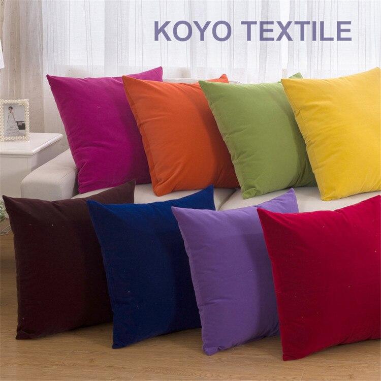 Fashion Decorative Plain Modern Cotton Gift Sofa Car 40CM 48CM 60x60CM Solid Flocked Cushion Cover Throw Big Pillow Case