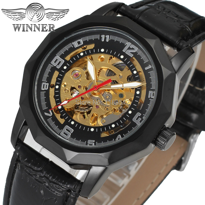 Winner Mens Watch New Business Watches Men Factory Shop Top Quality Automatic Men Watch Free Shipping WRG8033M3B3