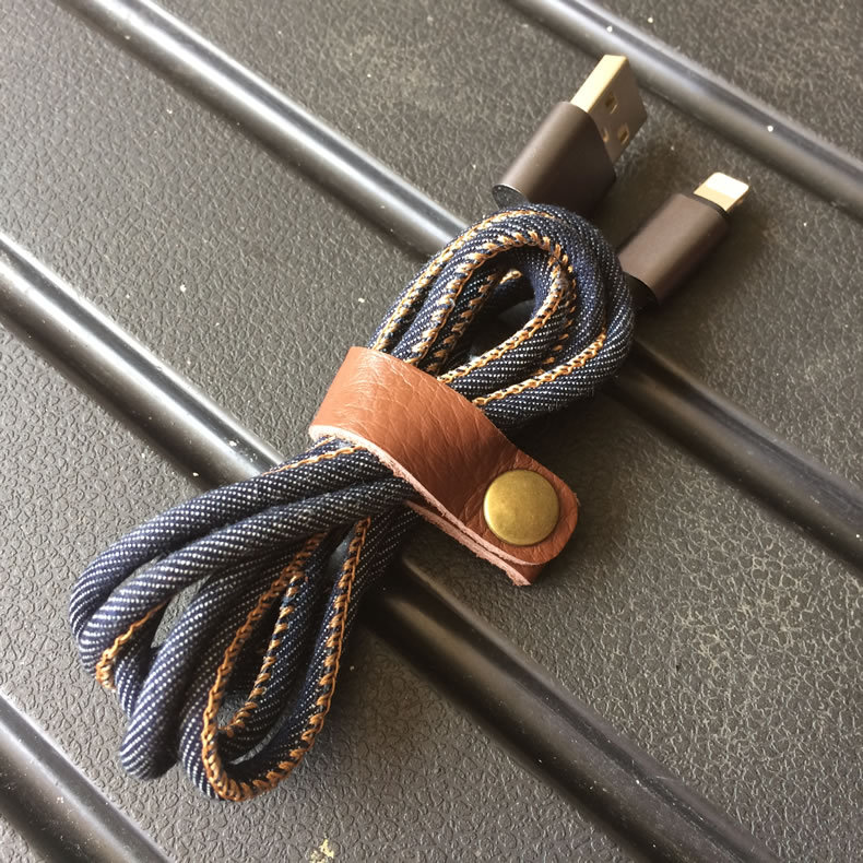 8pcs/lot Leather Cable winder wrapped Cord Line Earphone Cable ...