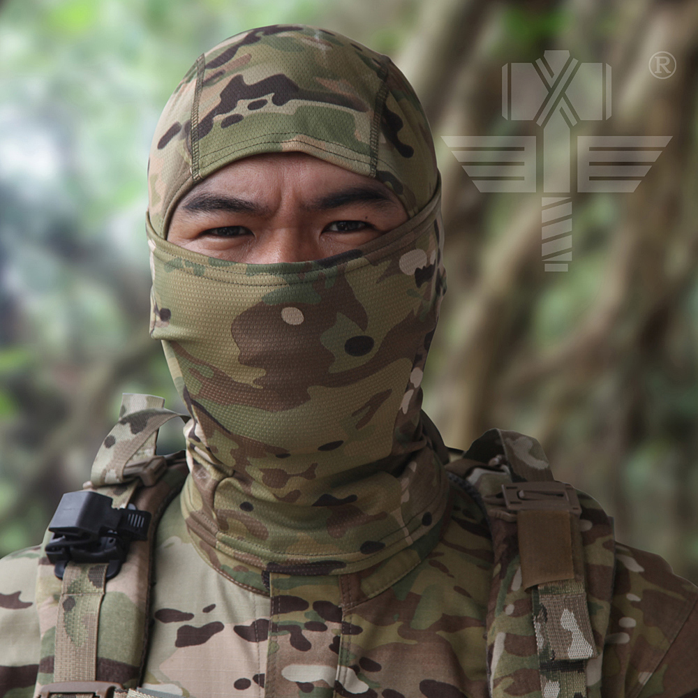 Outdoor Tactical Camouflage Scarf Balaclava Quick Dry Hood Mask Hunt Full Face Mask Camo Hunting Hats For Paintball War Game