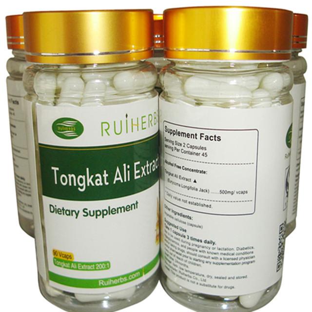 Tongkat Ali Extracto (1:200 extracto fuerza)-1 Botella de 400 mg x 90 cápsulas envío libre