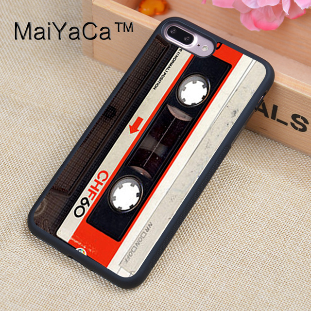 maiyaca vintage retro compact cassette tape printed phone cases for