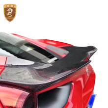 Real Carbon Fiber Rear Spoiler Trunk Lid Tail Wings For Ferrari 488GTB 2016 Exterior Parts Spoilers Car Accessories