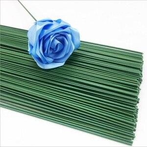 Image 2 - 2Mm 40Cm Papier Bedekt Kunstmatige Takken Takjes Ijzerdraad Voor Nylon Bloem Accessoire Zijde Bloem Materiaal Bouquet Craft decor