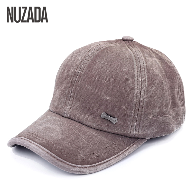Brands NUZADA Men Women Baseball Cap Snapback Bone Hats Caps Hip Hop Washed Cloth 100% Cotton Casual 2017 Classic Simple men fish patern outdoor washed cotton baseball caps