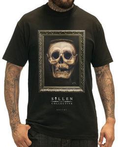 Sullen одежда Goethe Мужская футболка Черная Татуировка черепа Goth