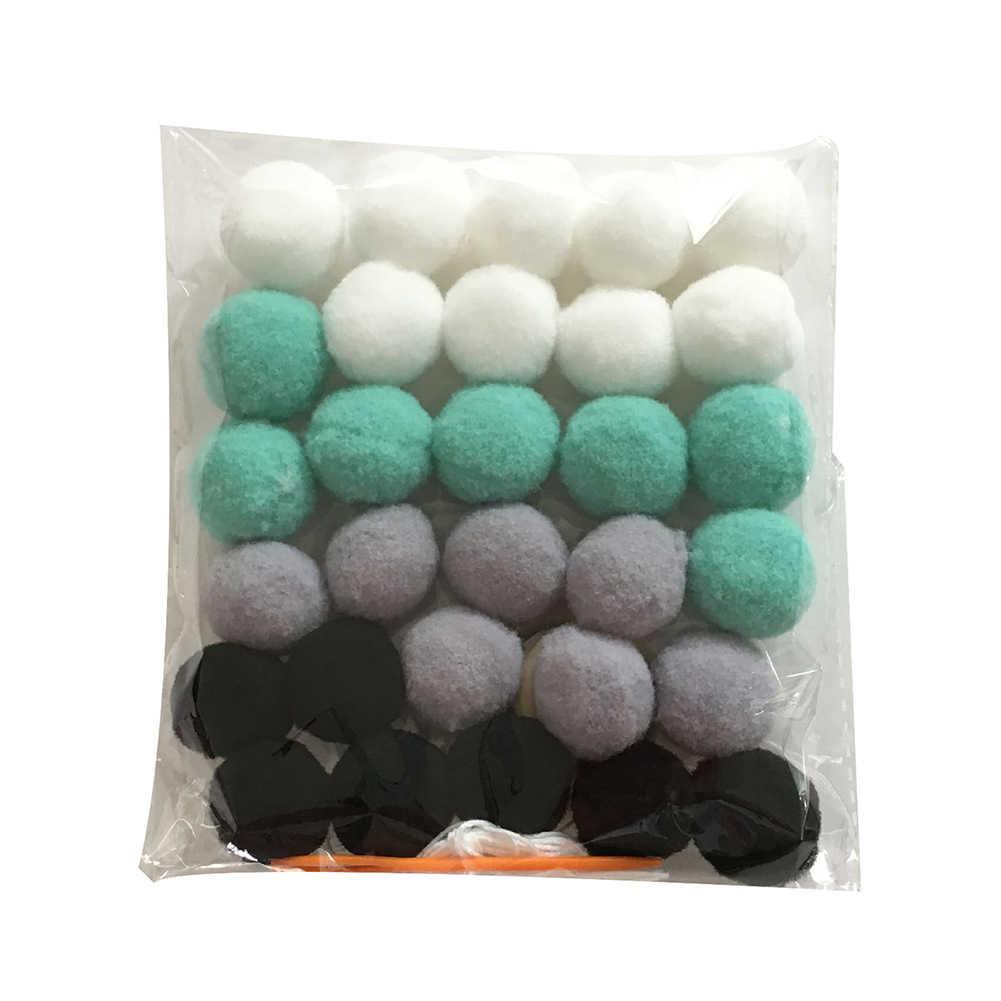 Wool Felt Balls สไตล์นอร์ดิกสีสัน POM Ball KIDS Room Wall แขวน Garland ตกแต่งเด็กตกแต่งห้อง Ha