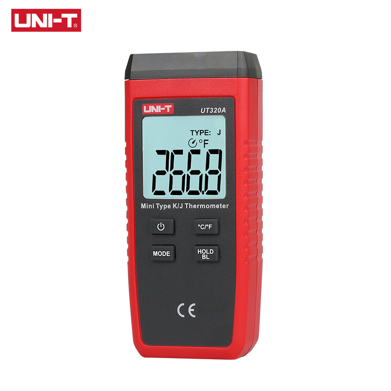 UNI-T UT320A Mini Contact Type Thermometer K/J Thermocouple Probe Selection With LCD Backlight Temperature Measurement