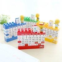 Cartoon Doll Diy Plastic Handmade Building Blocks Calendar Creative Decoration Calendar Table Calendar Toy Brick