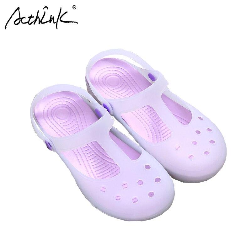 ActhInK New Design Teen Girls Summer Sandals Kids Brand Gradient Jeely Colors Sandals Princess Girls Antiskid Plain Cross Shoes ...