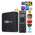 S905 M9S-PRO Completo Loaded Amlogic Quad Core Android TV Box de $ number bits KODI 16.0 3G 32G 4 K TV Box WiFi H.265 Teclado Inalámbrico opcional