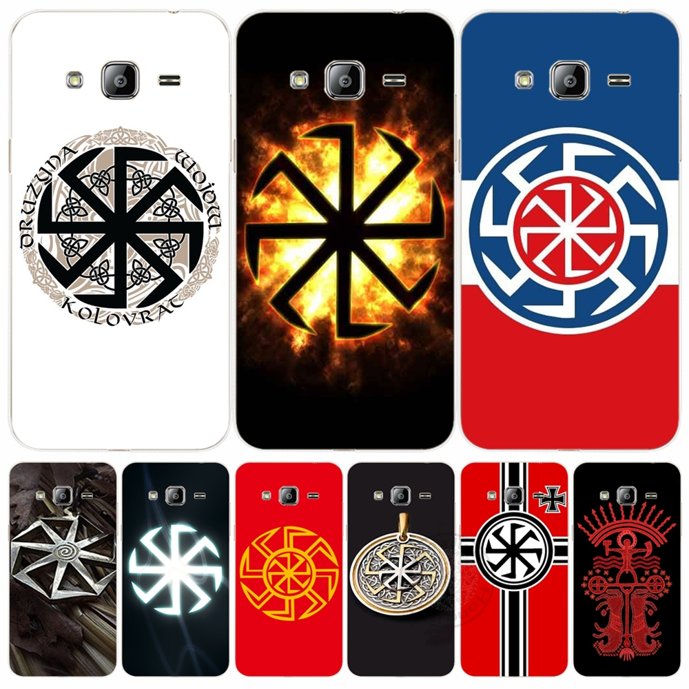 Pics photos batman logo evolution design for samsung galaxy case - Slavic Symbol Kolovrat Cover Phone Case For Samsung Galaxy J1 J2 J3 J5 J7 Mini Ace