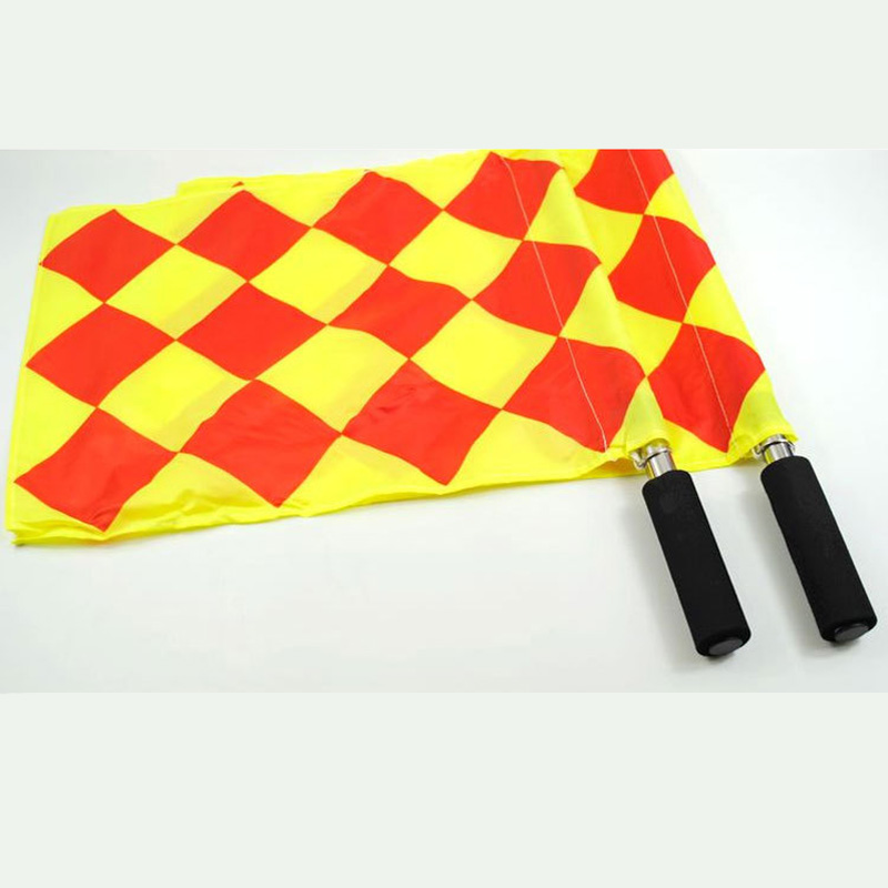 2PCS Referee Linesman Flags <font><b>Rugby</b></font> Soccer Football <font><b>World</b></font> <font><b>Cup</b></font> Diamond Signal Flag Team Sports High Quality