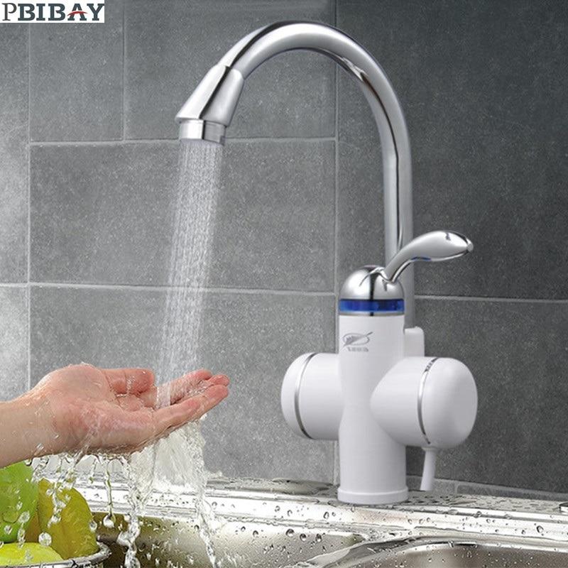 W818-3,3000W Instant Hot Water Faucet,Electric Instant Water Heater,Tap Kitchen Electric Hot Water Tap,Heating Faucet EU Plug