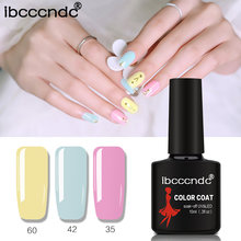 IBCCCNDC LED Gel Varnish Nail Art DIY Design 80 Colors 10ml Soak off UV Nail Gel Polish Manicure Lacquer Base Top Coat Gel 60-80(China)