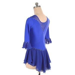 Image 4 - Nasinaya איור החלקה החלקה על קרח חצאית תחרות שמלה מותאם אישית לילדים נשים בחורה Patinaje התעמלות ביצועים 226