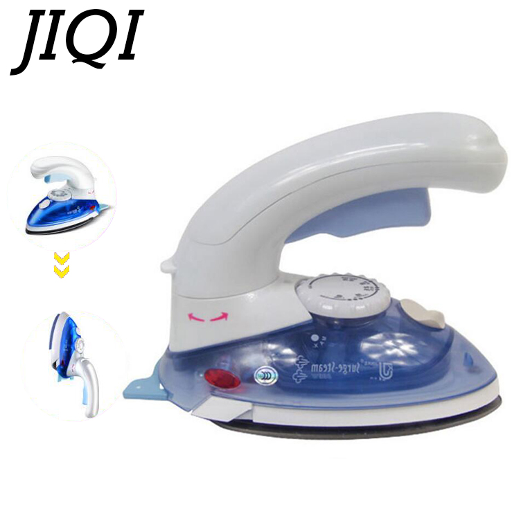 JIQI Mini Handheld garment steamer electric iron 180 Degree Rotatable clothes Portable travel flat ironing cloth brush EU plug jiqi mini handheld electric clothes steaming iron household travel garment steamer portable dormitory gift 110v 220v eu us plug