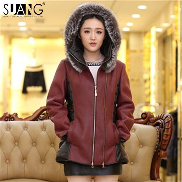 pecora con delle autentica di donne Cappotto pelliccia di agnello reale la della Suang di pelliccia 5wzpxqznW