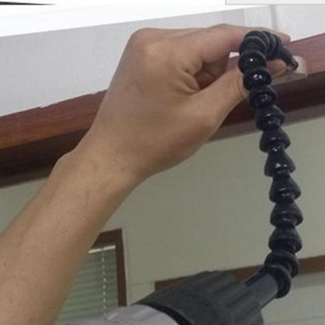 High Quality Plastic+Metal Electronics Drill Black 295mm Flexible Shaft Bits Extention Screwdriver Bit Holder Connect Link