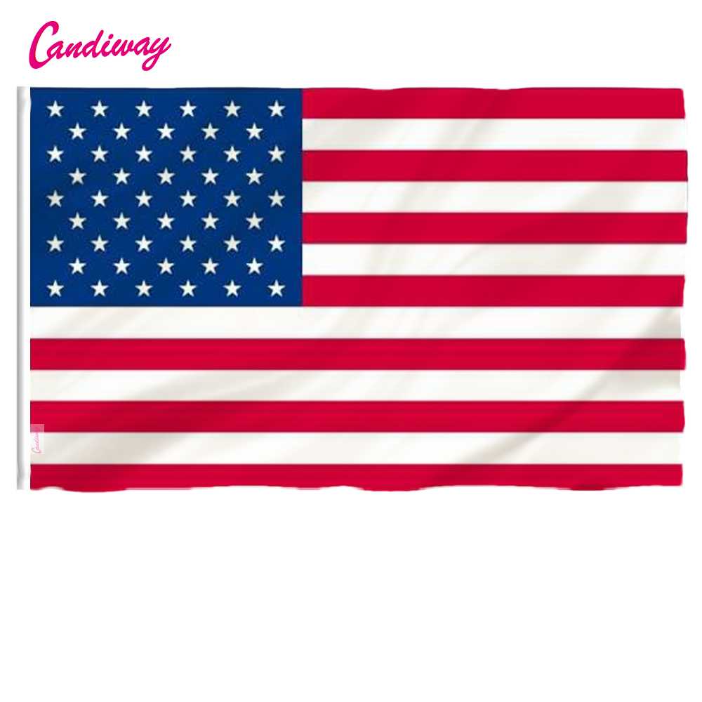 The USA Flags 3*5 Ft Flag Black White And Blue American 150x90cm United States