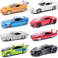 1 24 Jada Mitsubishi Eclipse TOYOTA SUPRA DODGE Charger Nissan Ripsaw crawler Lykan Diecasts & Vehicles model scale toy car kids