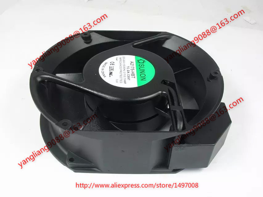Free shipping For SUNON A2175-HBT, TC.GN AC 220-240V 0.11AMP 2-pin 172x172x51mm Server Cooling Round fan free shipping for adda aa8382hb aw s ac 220 240v 0 07 0 06a 2 pin 80x80x38mm server square fan free shipping