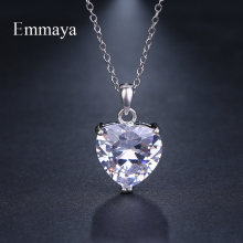 Emmaya Brand Fashion Elegance Charm AAA Cubic Zircon Adjustable Heart Necklaces for Women Gorgeous Jewelry Wedding Party Gift стоимость