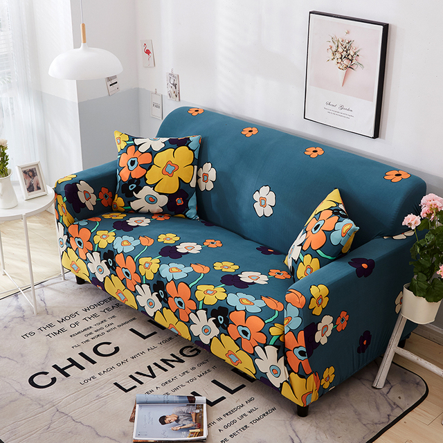 Low Price 100 Polyester Sofa Cover Elastic Slipcover Universal All Inclusive Couch