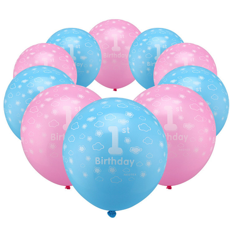 10pcs/lot 12inch Birthday Party Decoration Latex Balloons Boy 1/Girls 1 Latex Balloons For Weeding Valentines Day Digital Toy