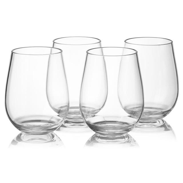 Round Crystal Wine Glasses 4 pcs Set