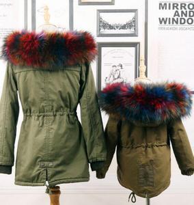 Image 4 - Autumn and winter womens Faux fur collar cap fox fur big collar raccoon fur collar muffler scarf cape thicken warm scarf