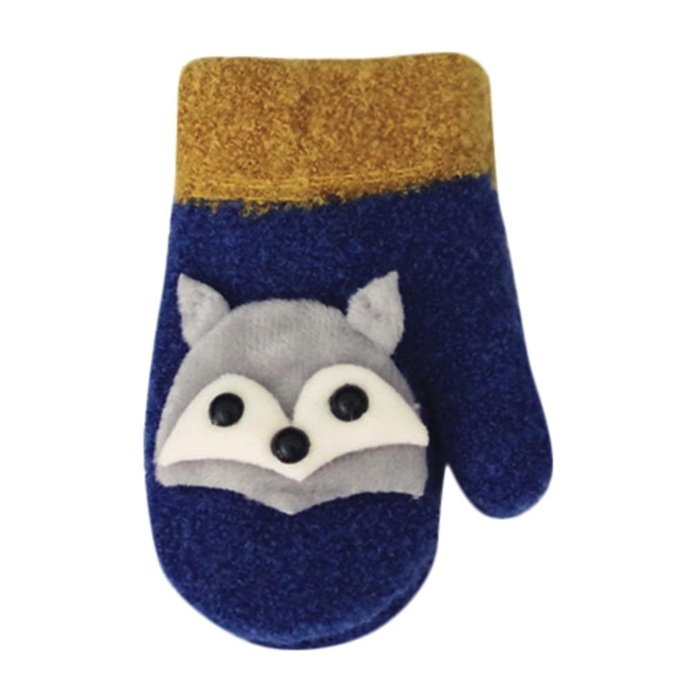 New Fashion Muqgew Girls Boy Cartoon Gloves Children Warm Lanyard Luvas Mitten Cute Whole Covered Finger Gloves Fox Soft Glove #20l To Win A High Admiration Boys' Baby Clothing