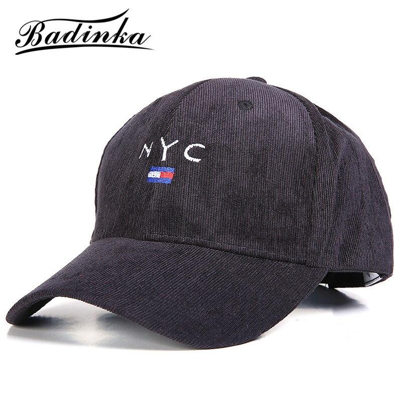 Badinka 2018 New Spring Black Red NYC Letter Design Cool Sports Baseball Caps Men Women Golf Rapper Trucker Snapback Hats Caps