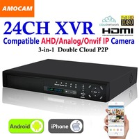 Mejor Nuevo 24 ch Super XVR 1.5U todo HD 1080 P grabación 3 en 1 4 * HDD Puerto DVR grabadora de vídeo de vigilancia CCTV para cámara AHD/analógica/IP