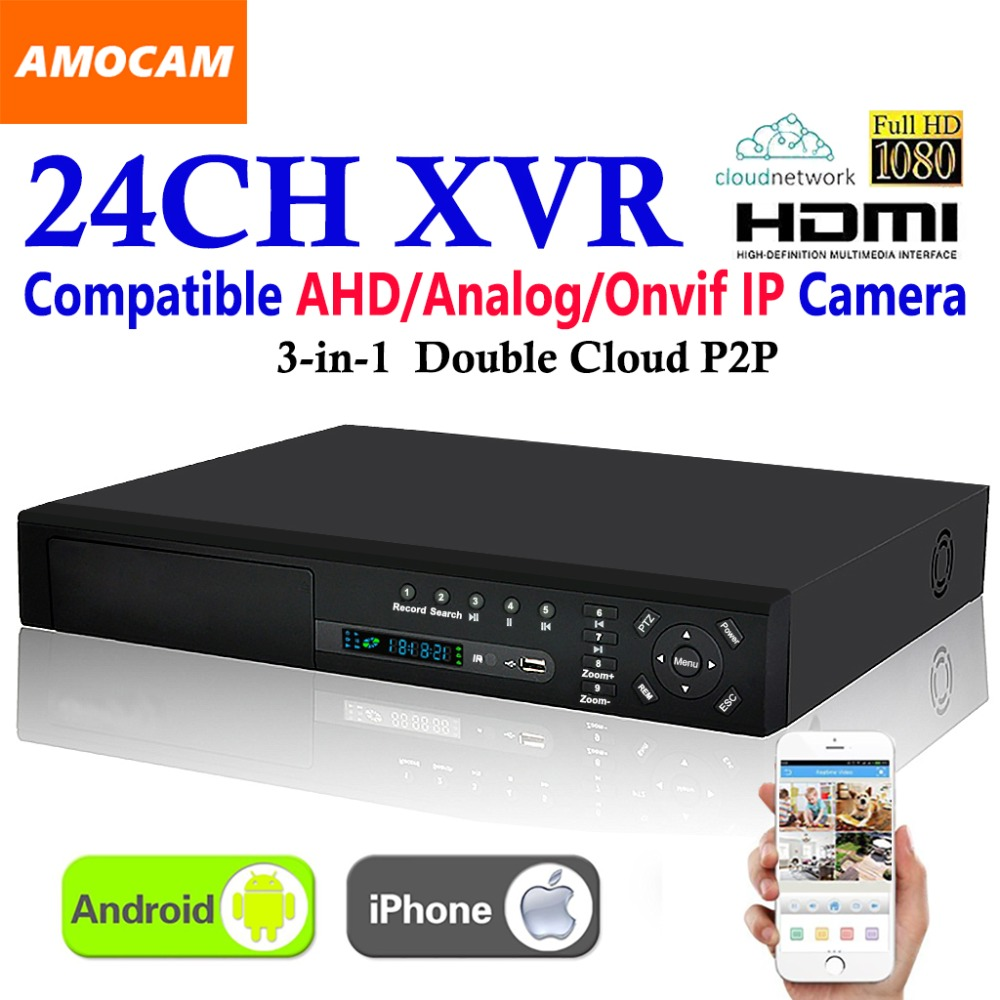 New 24CH Super XVR 1 5U All HD 1080P Recording 3 in 1 4 HDD port
